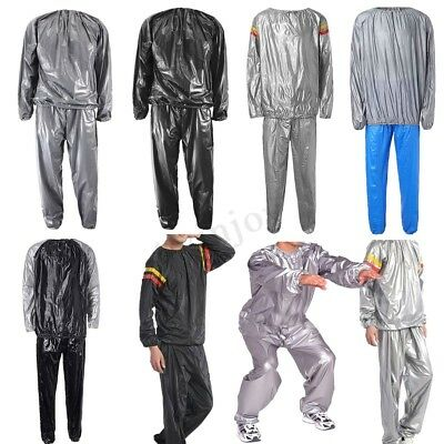 Weight Loss Heavy Duty Sweat Sauna Suit Anti-Rip Gym Exercise Fitness Fat Burn