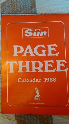 1988 SUN CALENDAR in good condition - LINDA LUSARDI, SAMANTHA FOX, Gail McKenna