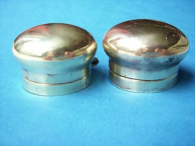 antique inkwell lids ,a pair of genuine domed 32 mm lids. Not repro.