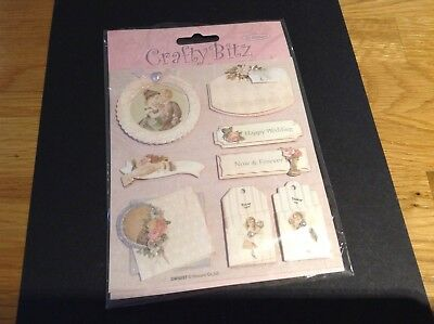 1 BRAND NEW PACK 3D Toppers In Wedding  From CRAFT BITZ Reduced To 99p