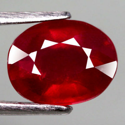 2.48Ct.captivating! Oval Facet Top Blood Red Natural Ruby Madagascar