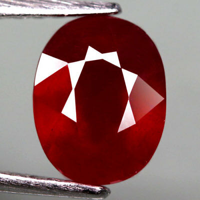 2.86Ct.shining ! Oval Facet Top Blood Red Natural Ruby Madagascar