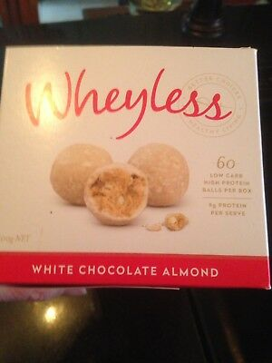 LAST LOT 20pkts Of Delicious Whit Choc And Almond Wheyless Protein Balls RRP $60
