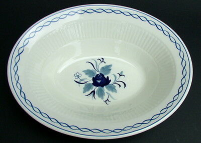 Adams Blue Baltic Pattern Oval Open Vegetable Serving Dish 23.5cm - Looks in VGC