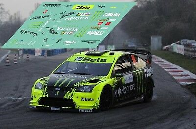 Calcas Ford Focus WRC Monza Rally Show 2009 1:32 1:43 1:24 1:18 Rallye decals