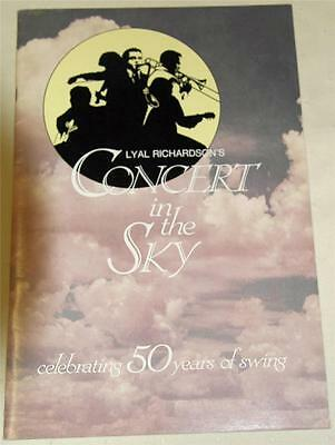 Lyal Richardson's Concert In The Sky 1986 Souvenir Theatre Program - Excellent