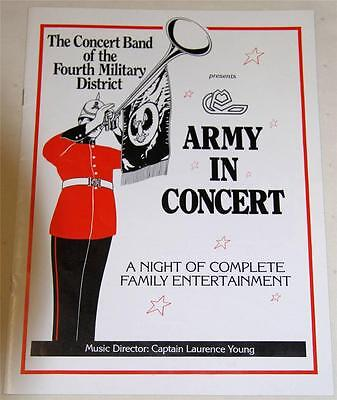 Army In Concert 4Th Military District Souvenir Theatre Program - Excellent
