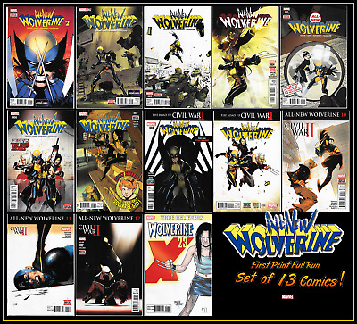 All-New Wolverine #1 2 3 4 5 6 7 8 9 10 11 12 (2016) 1St Print Set Of 13 X-23 Nm