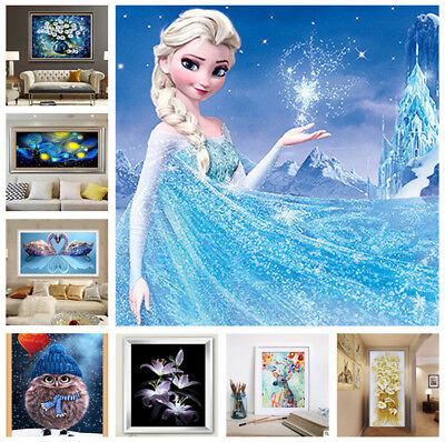 DIY 5D Diamond Painting Embroidery Flower Cross Crafts Stitch Kit Decor Gifts