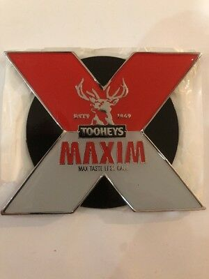 Tooheys MAXIM Metal Beer Tap Badge and Decal - Man cave Collectable