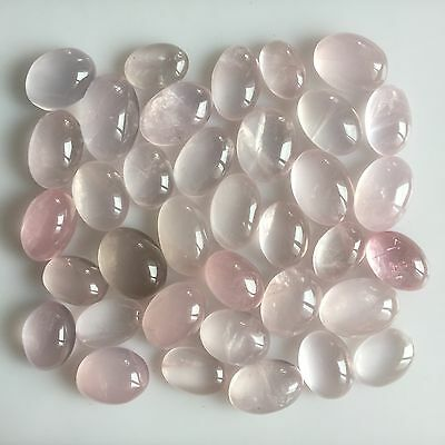 515 Ct Untreated Natural Rose Quartz Oval Cabochon Loose Lot Gemstone Pink Deal