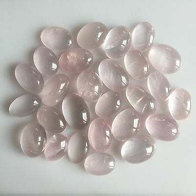 425 Ct Untreated Natural Rose Quartz Oval Cabochon Loose Lot Gemstone Pink Deal