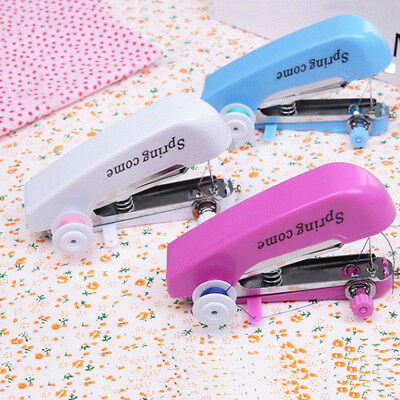1x Mini Portable Handheld Sewing Machine hand held Stitch Home Clothes Cordless