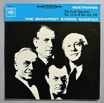 Sbrg 72101 The Budapest String Quartet - Beethoven Late Quartets - Uk 1St Stereo