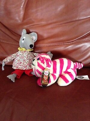 Bagpuss and Singing Lizzie Mouse Soft toy Bundle.