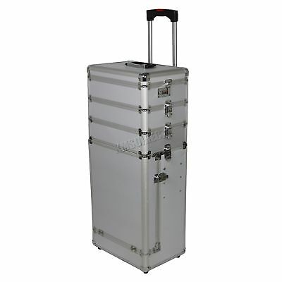 FoxHunter Silve Makeup Beauty Cosmetic Hairdressing Nail 4 In 1 Case Box Trolley