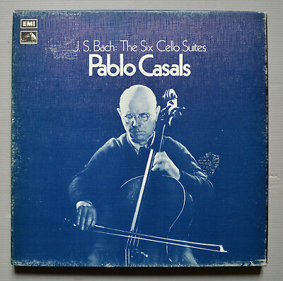 Rls 712 - Pablo Casals - Bach - The Six Cello Suites - 3 Lp Box - Excellent