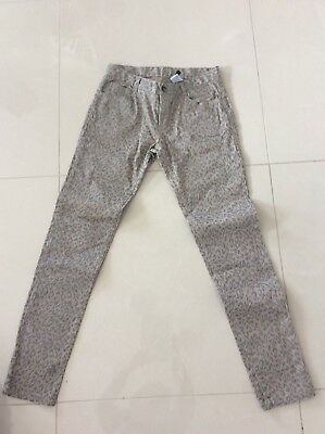 Girls Fred Bare Leopard Jeans Size 14 In VGC