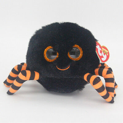 "Ty Beanie Boos 6"" Crawly Spider Stuffed Plush Toy Soft Animals Girls&Boys Dolls"