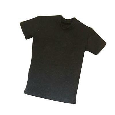 1/6th Scale Black T-Shirt for 12'' HT/DID/SS/DML/TC Male Action Figure Body