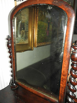 early 20th Century mahogany table swing D end mirror  ,having  serpentine front