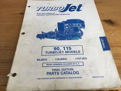 Turbo Jet parts catalog (1996)  - 90, 115 Turbojet models