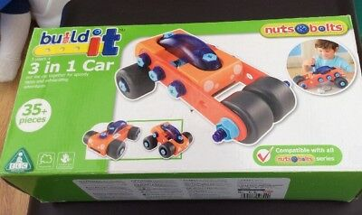 ELC BUILD IT 3 In 1 CAR COMPLETE BOXED WITH INSTRUCTIONS