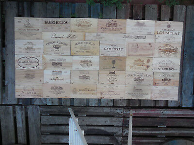 35 estampes façades bois de caisses vin dimension 192cm X 93cm wine box panels