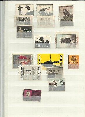 GB WWI patriotic vignette stamps collection. unusual lot