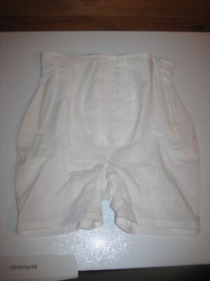 VTG FREEMAN Panty Girdle Long Leg Lace Garter Loops ZIPPER STAYS Sz 48 4X - 5X