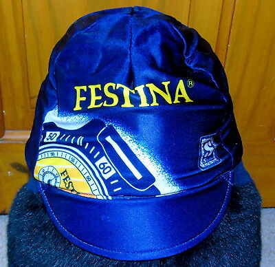 Excellent Condition Vintage Festina Winter Lined Cycling Cap Made By Nalini