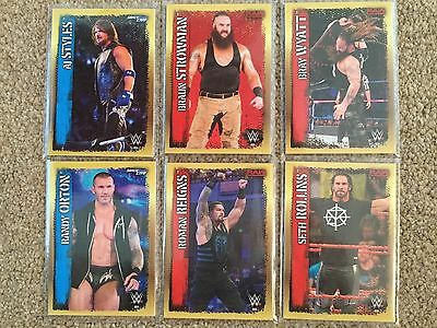 Slam Attax 10 - WWE - Full Set of 6 special 'DC' Collector Cards - 1 to 6 - 10th