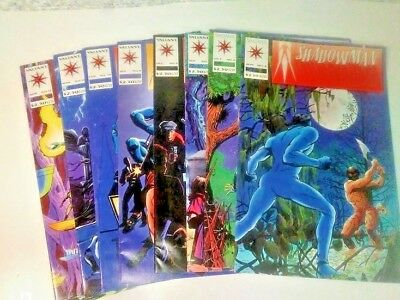 Shadowman Comic Books Valiant 1990's Modern Age Lot of 8 Preowned