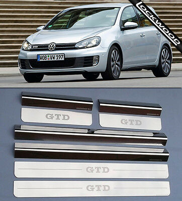 VW Golf Mk6 GTD  4 Door Sill Protectors / Kick plates (2009- 2012)