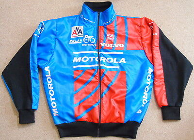"Very Good Cond Vintage Motorola Team Winter Jacket. 50"" Circumference"