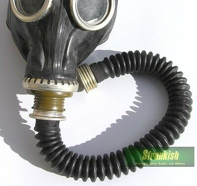 Russian Army Gas Mask Black Rubber Hose (Hose Only)