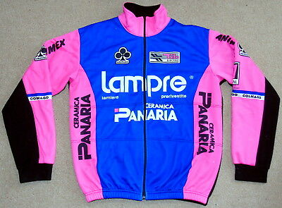 "Good Condition Vintage Lampre Panaria Team Winter Jacket. 47"" Circumference"