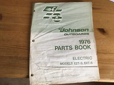Johnson Outboards (1976) parts Book  - Electric models