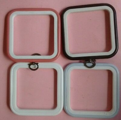4 x 4 inch Square  Flexi Hoops set of 4