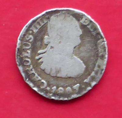 An 1807 Silver Real Coin From Spain / Half Or One Real ?