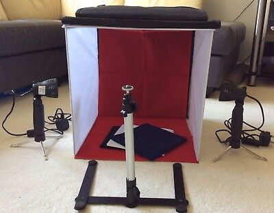 Portable 40x40cm Photo Studio Shooting Lighting Cube Tent with Kit + 4 Backdrops