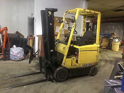"""Hyster 4 Wheel Sit Down Forklift 3000Lb Capacity 191"""" Lift Clean 42"""" Forks,hd"""