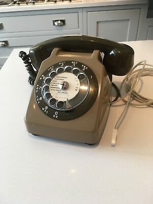 Vintage French Telephone 1970's Dial with Additional Ear Piece