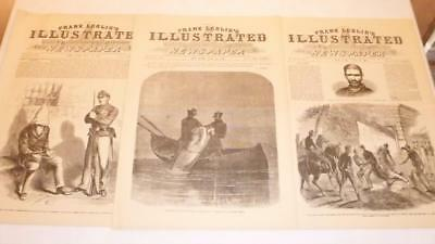 3 Frank Leslie's Illustrated Newspaper 1865 Reissue Assassin Booth Killed