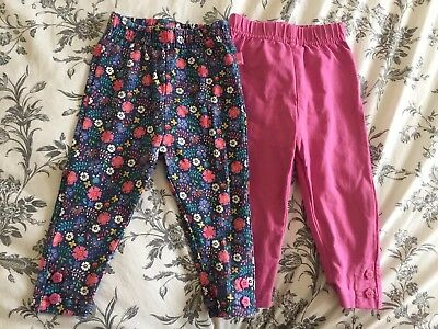 2 X JoJo Maman Bebe 6-12 Months Girls Leggings