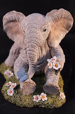 COUNTRY ARTISTS ELEPHANT PAW PRINTS 1990's HAND PAINTED & CRAFTED TUSKERS