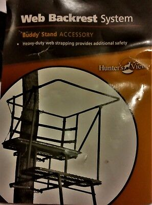 WEB BACKREST SYSTEM for a 2-Person deer stand,Safety & Comfort