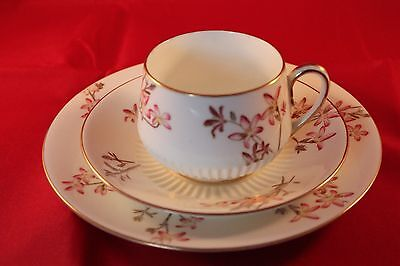 ANTIQUE 1886c GEORGE JONES CRESCENT CHINA COFFEE TRIO CUP SAUCER & PLATE