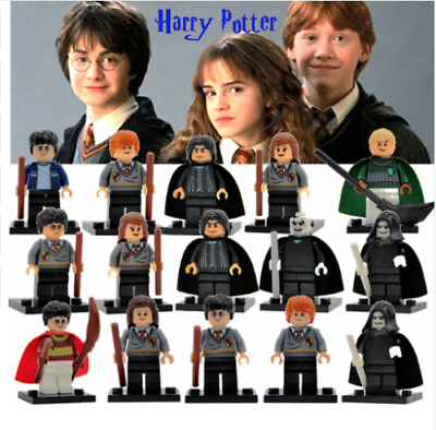 Harry Potter Mini figure Ron Hermione Dumbledore Movie Wizard Snape Fits Lego