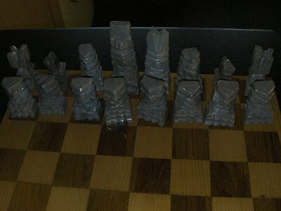 Marble onyx aztec mayan chess pieces, sell 5 pieces for £4